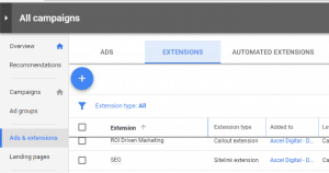 Ads extension