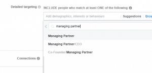 Facebook job titles