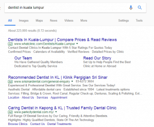 Google AdWords Dentist