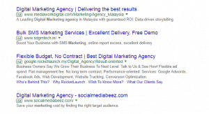 Pay per click ppc ads example
