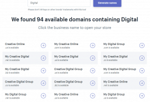 Shopify domains suggestions