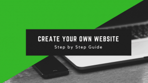 Step by step guide to create a website